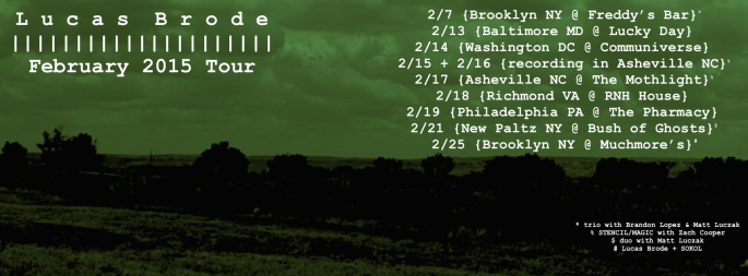 February tour flier dates