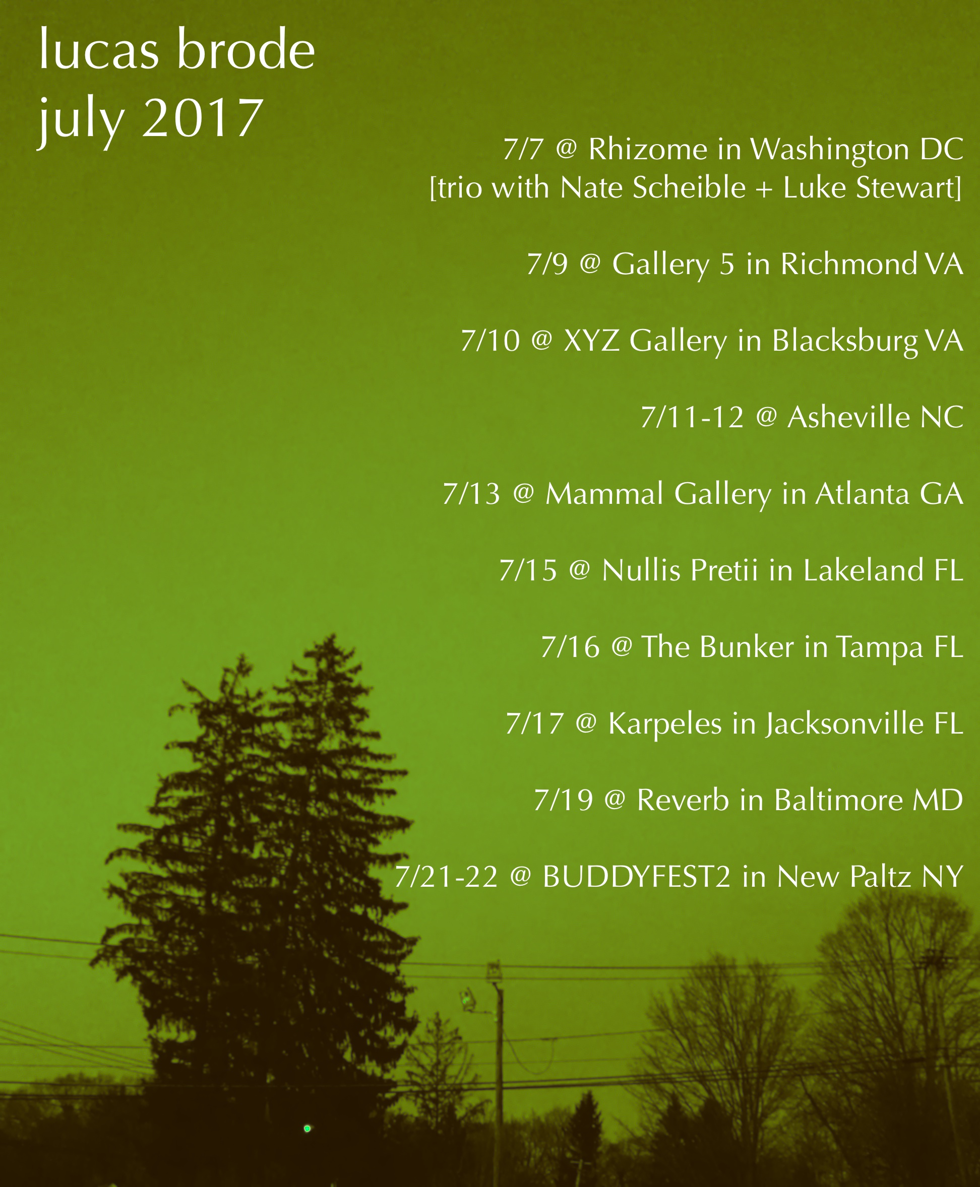 July 2017 tour